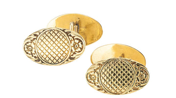 Art Nouveau Double Sided Yellow Gold Cufflinks