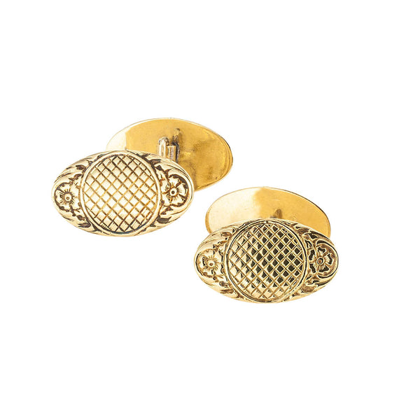 Antique yellow gold double sided cufflinks circa 1900.