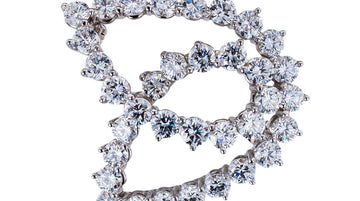Tiffany & Co Diamond Platinum Brooch