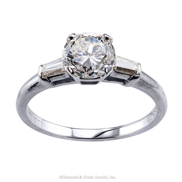1.02 Carats E Color Diamond White Gold Engagement Ring - Jacob's Diamond and Estate Jewelry