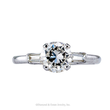 1.02 Carats E Color Diamond White Gold Engagement Ring