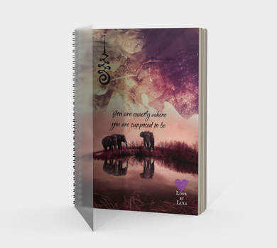 New! Elephant Purple Paint Spiral Notebook