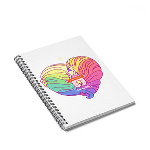 Unicorn spiral Notebook - Ruled Line