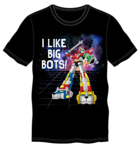 Voltron I Like Big Bots Men's Black T-Shirt Tee Shirt