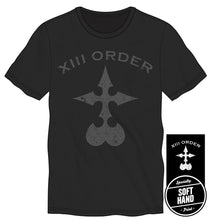 Kingdom Hearts Logo XIII Order Men's Vintage Black T-Shirt Tee Shirt
