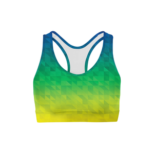 Beach Triangles Back Color Sports Bra