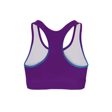Deep Sea Triangles Color Back Sports Bra