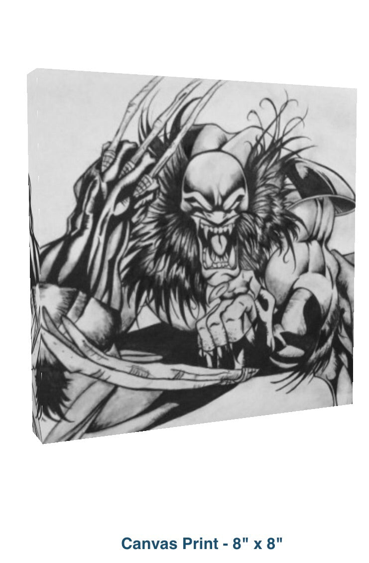Wolverine 8 x 8 canvas