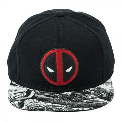 Marvel Deadpool Logo Sublimated Bill Snapback