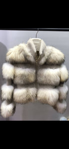 """DRAMA"" layered fur jacket!"