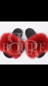Genuine Fox Fur Slippers/Slides