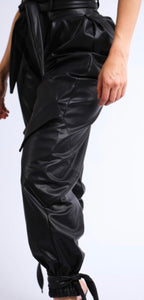 Biker Chic Faux Leather Pants