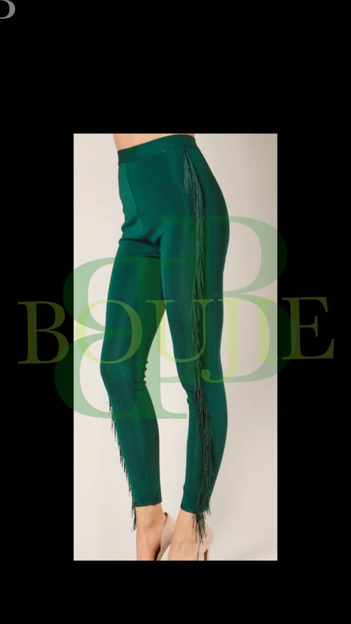 """Money"" Fringe Bandage Pants"