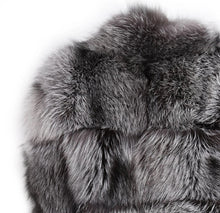 Diva Style Silver Fox Fur Coat