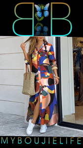 Picasso Maxi Shirt Dress