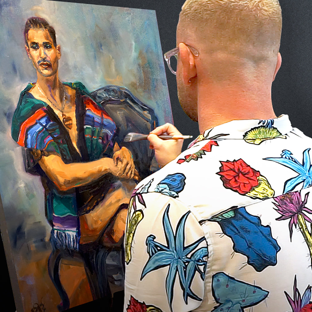 Live Painting from Male Figure Model