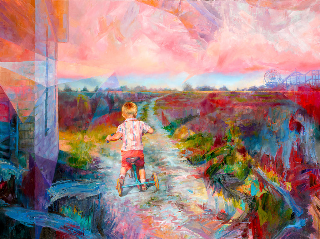Departure painting - Paul Richmond Studio