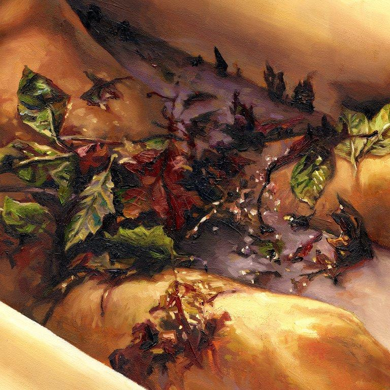 Glistening With Dark Leaves painting - Paul Richmond Studio