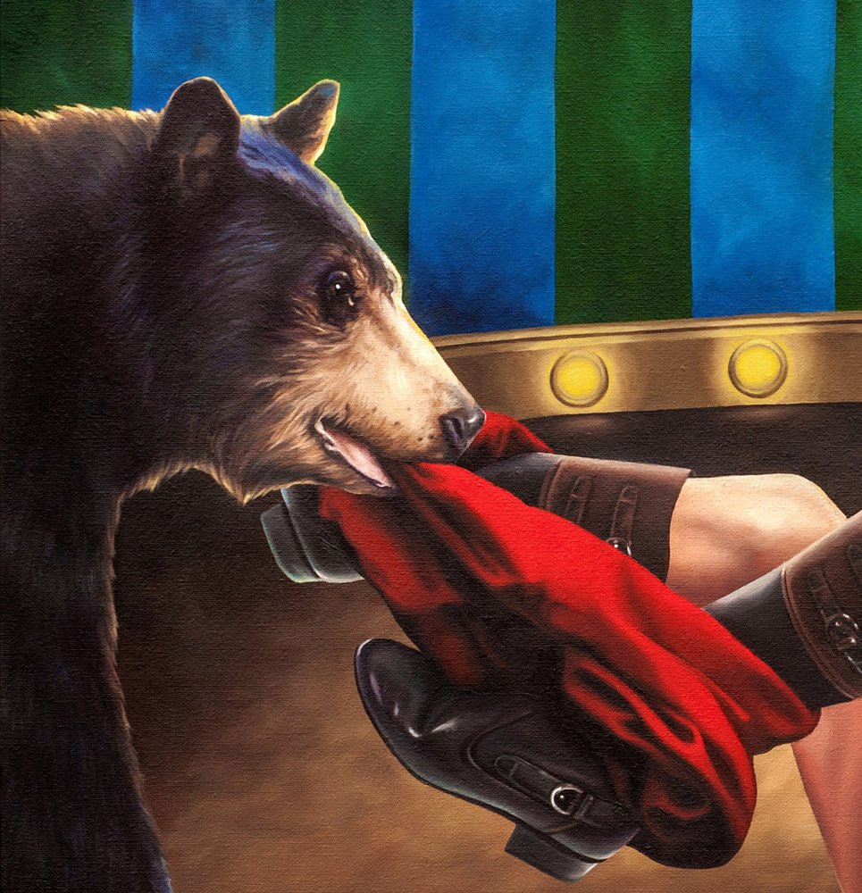 The Bear Tamer print