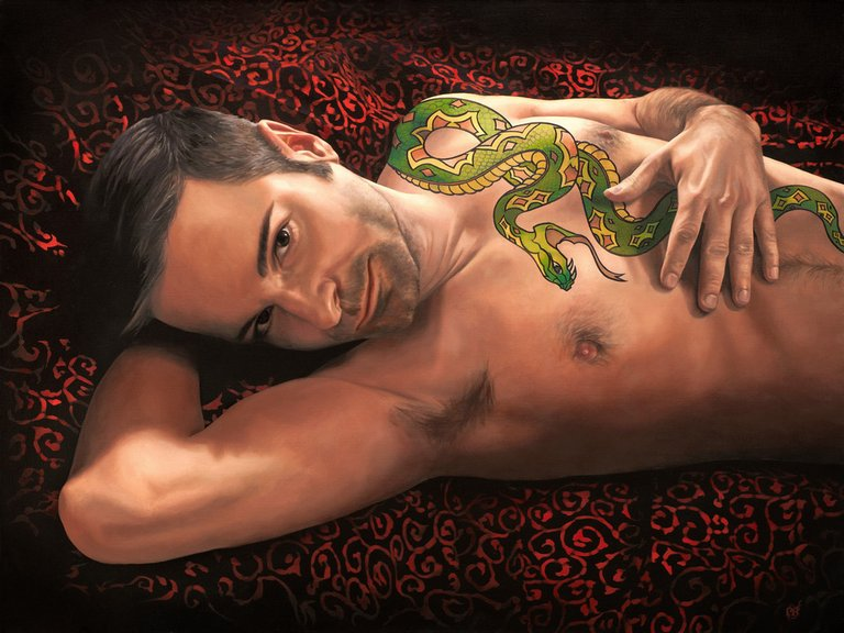 The Snake Charmer painting - Paul Richmond Studio
