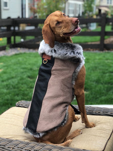 Aspen Faux Fur Dog Jacket - 40% Off!