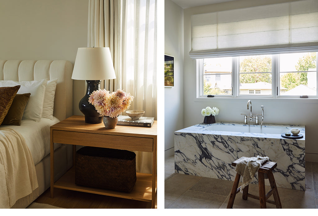 Studio Life/Style Los Angeles Chevoit Hills Interior Design Primary Bed and Bath