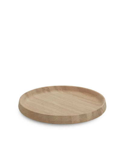 Round Serving Tray, Oak