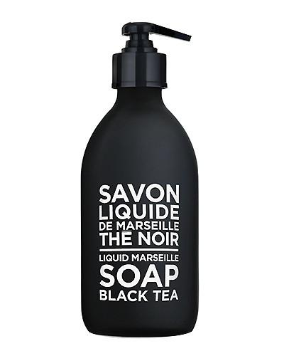 Black Tea Liquid Marseille Soap 10 oz - Glass Bottle