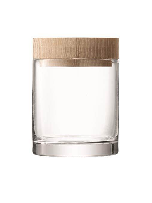 Glass Container with Ash Lid, Small