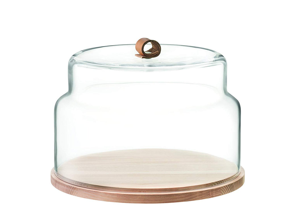 Round Serving Tray with Double Layer Dome Lid