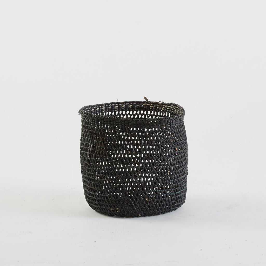 Black Open Weave Basket, Large