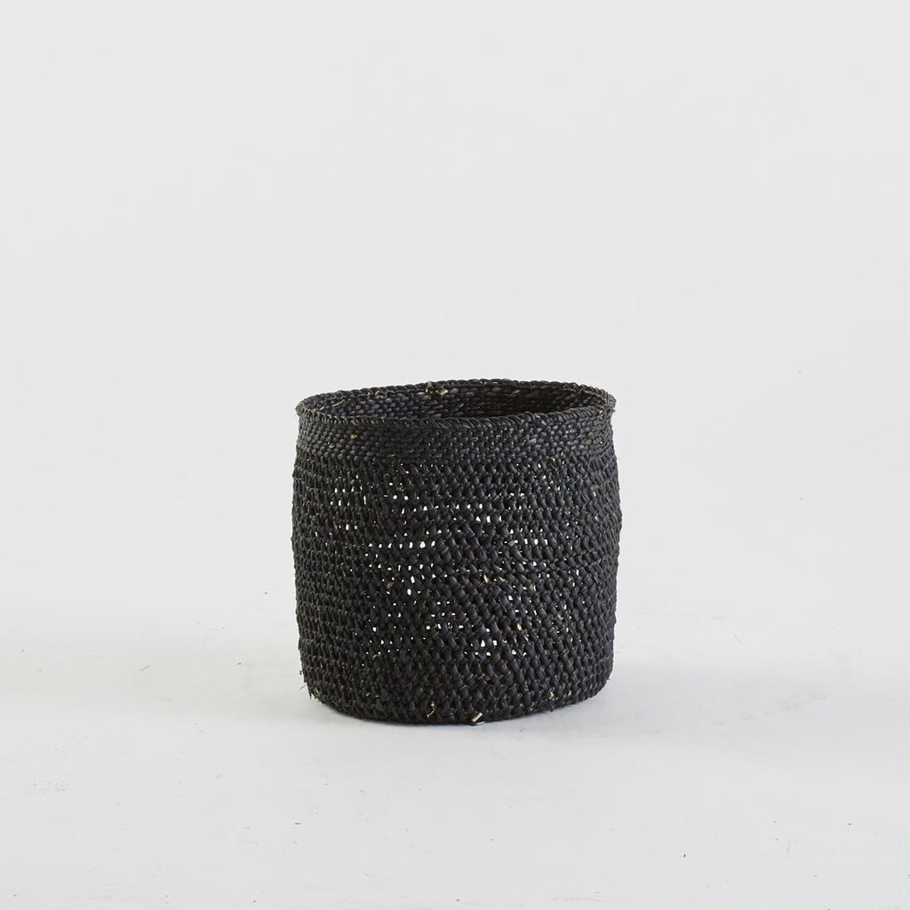 Black Open Weave Basket, Medium