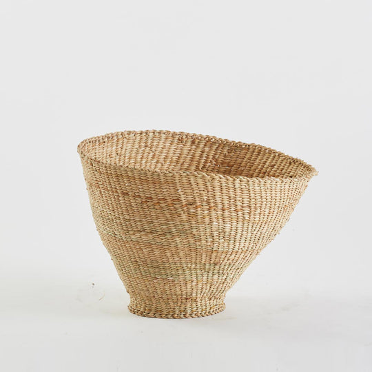 Asymmetrical Woven Basket, Extra Large