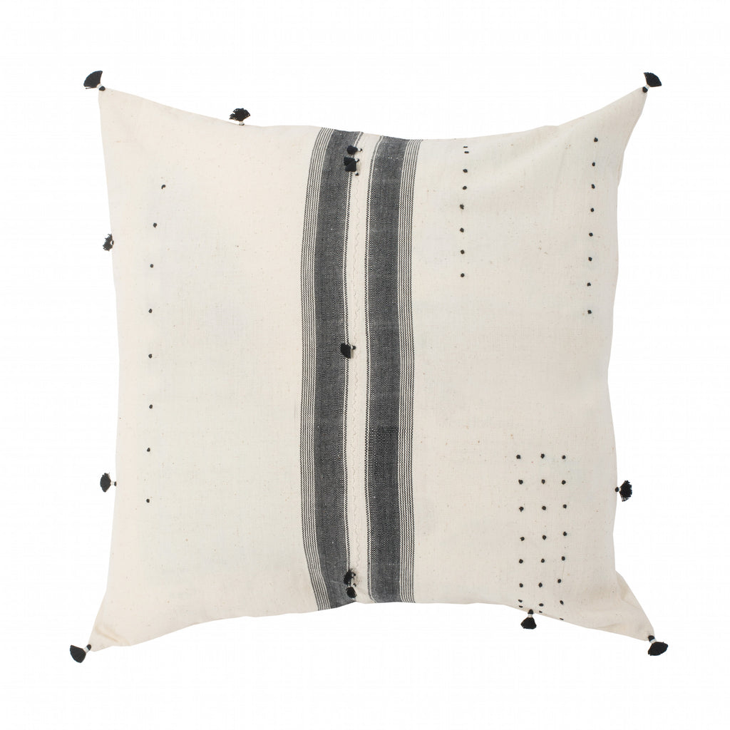 Large White Indian Throw Pillow Sham