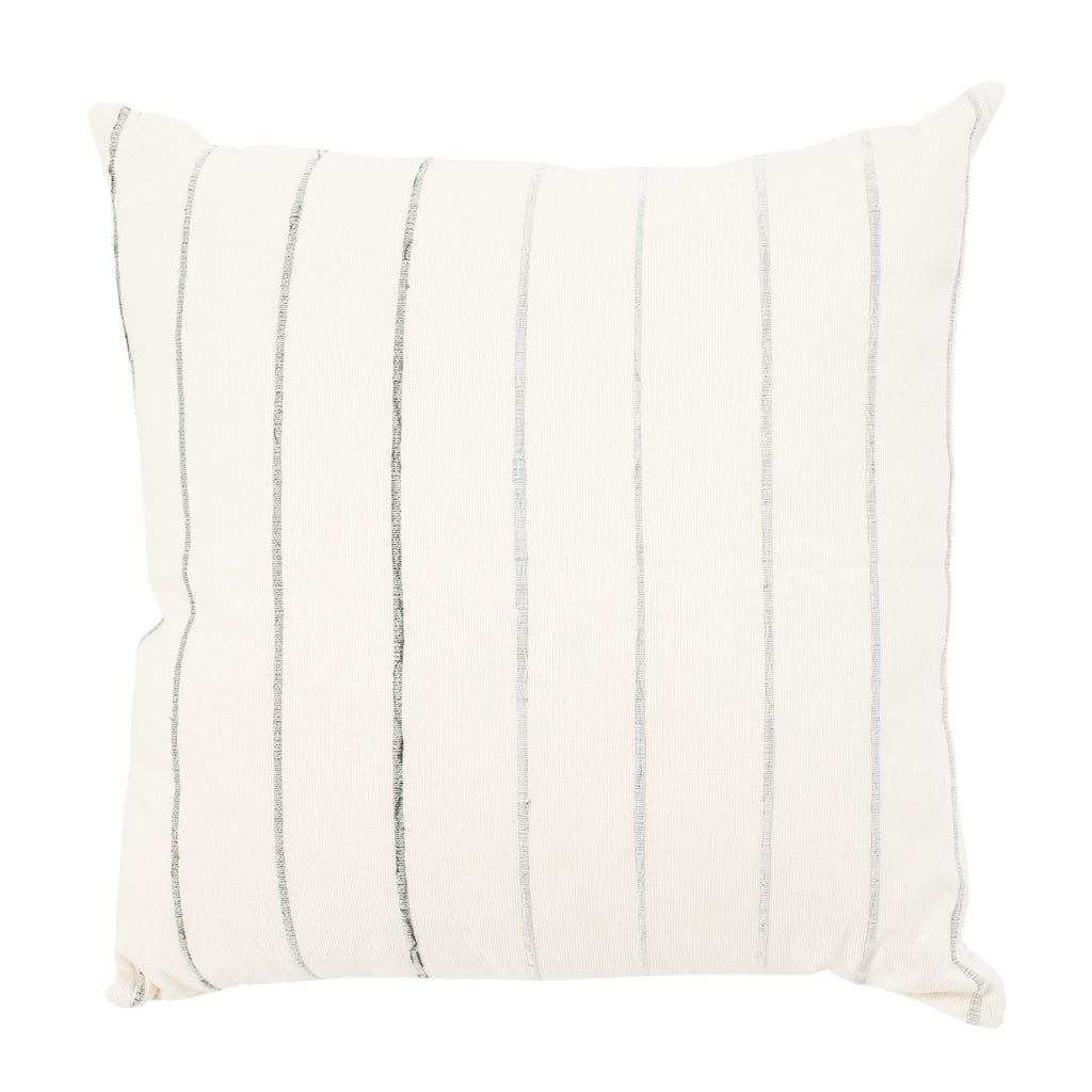 Recycled Stripe Pillow in Grey