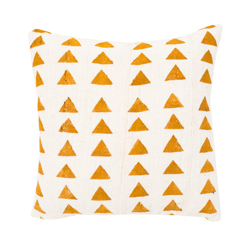 Yellow Tribal Pillow