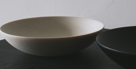 Blonde Maple Wood Shallow Bowl