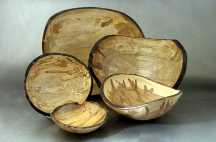 Oval Bowl, Ambrosia Maple 15""