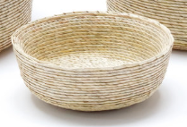Palm Round Basket, Small Natural