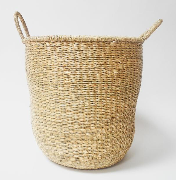 Tall Seagrass Basket with Handles