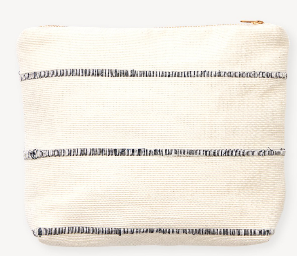Recycled Stripe Pouch