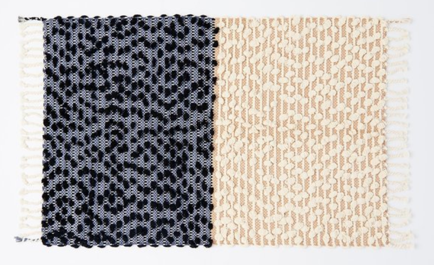 Split Bathmat in Black and Neutral