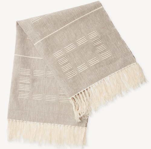 Blocks Tea Towel in Beige