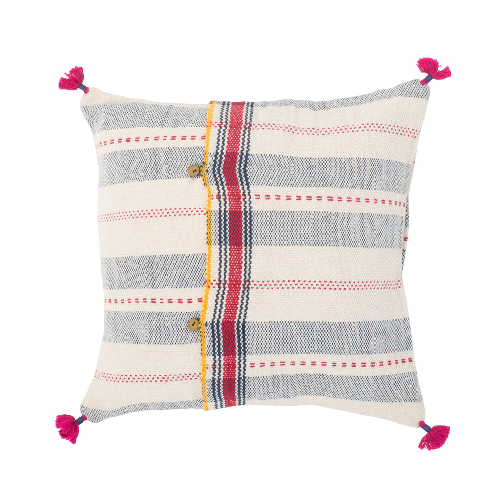 Small Striped Indian Throw Pillow Sham
