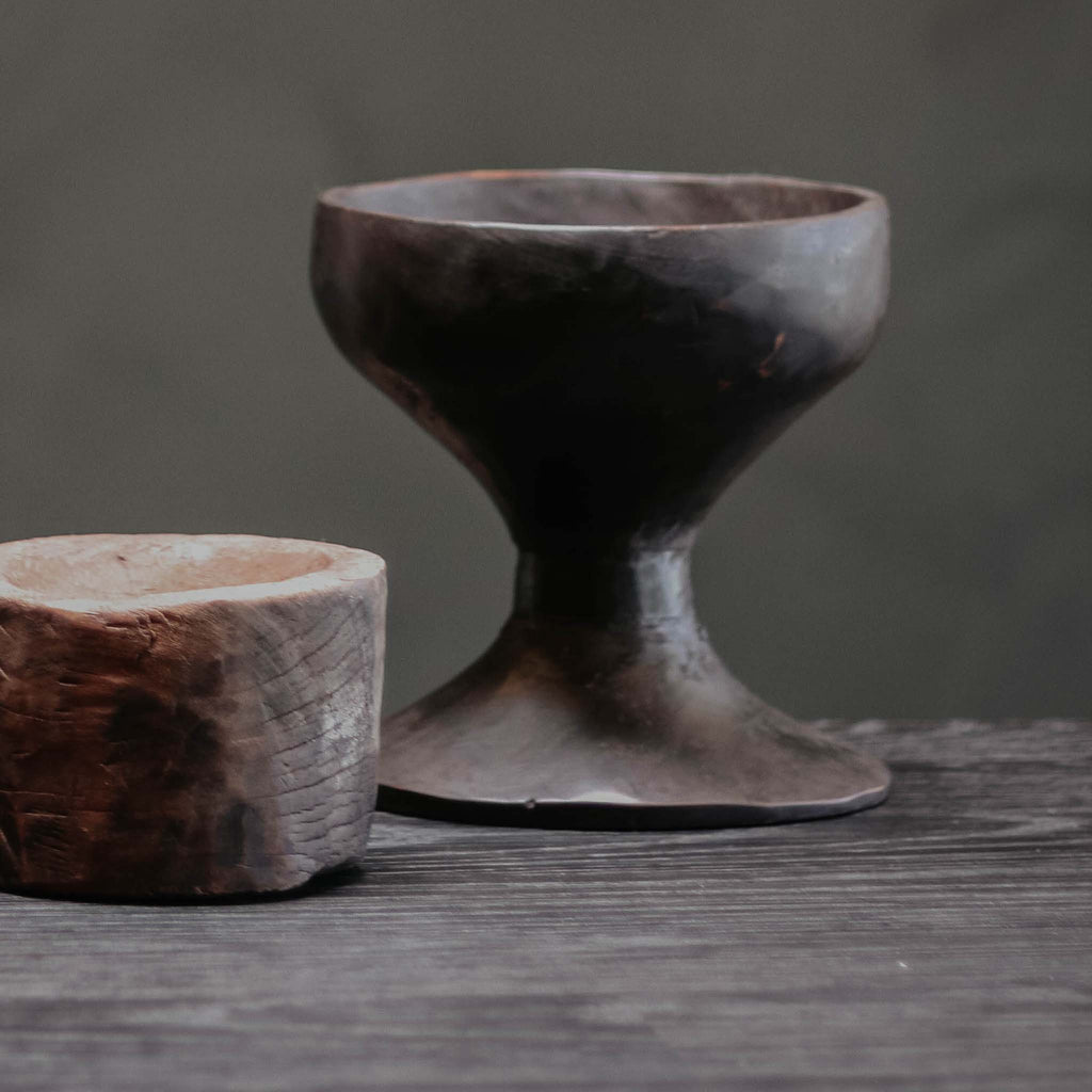 Natural Wood Goblet
