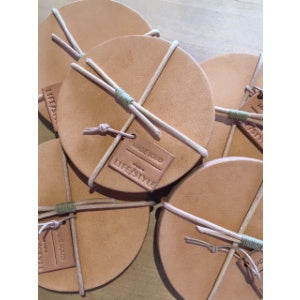 Studio LIFE/STYLE x Made Solid Tan Leather Coasters