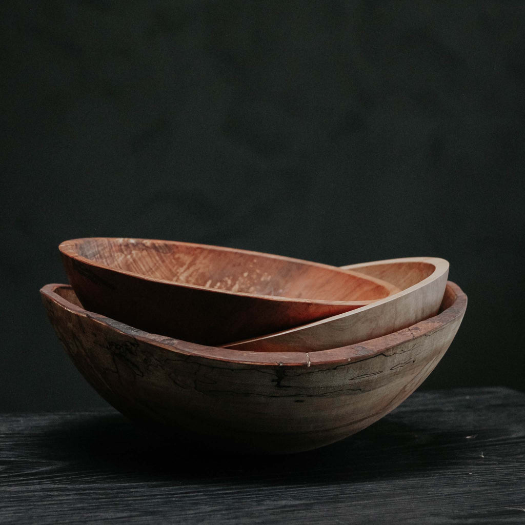 Round Bowl, Spalted Maple Ambrosia 13""