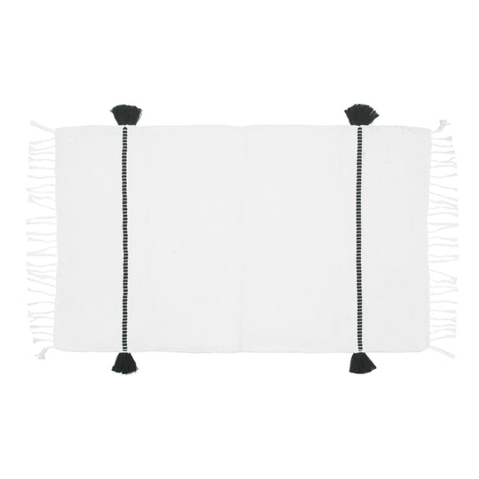 Tassel Bath Mat Black