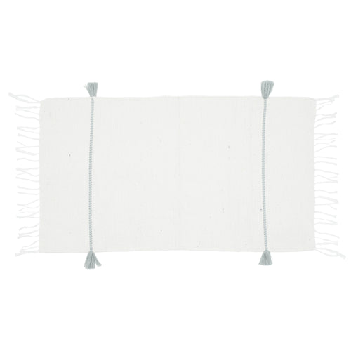 Tassel Bath Mat Grey