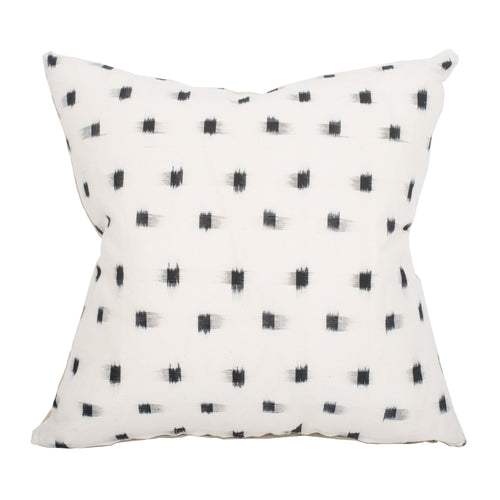 White Pillow Sham Cover with Black